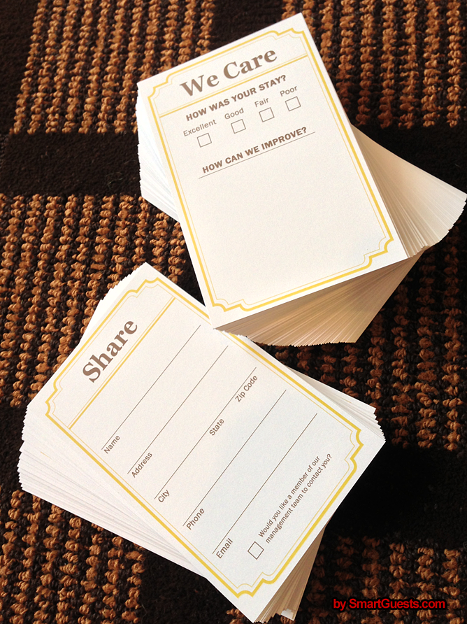 We Care Cards by SmartGuests,com