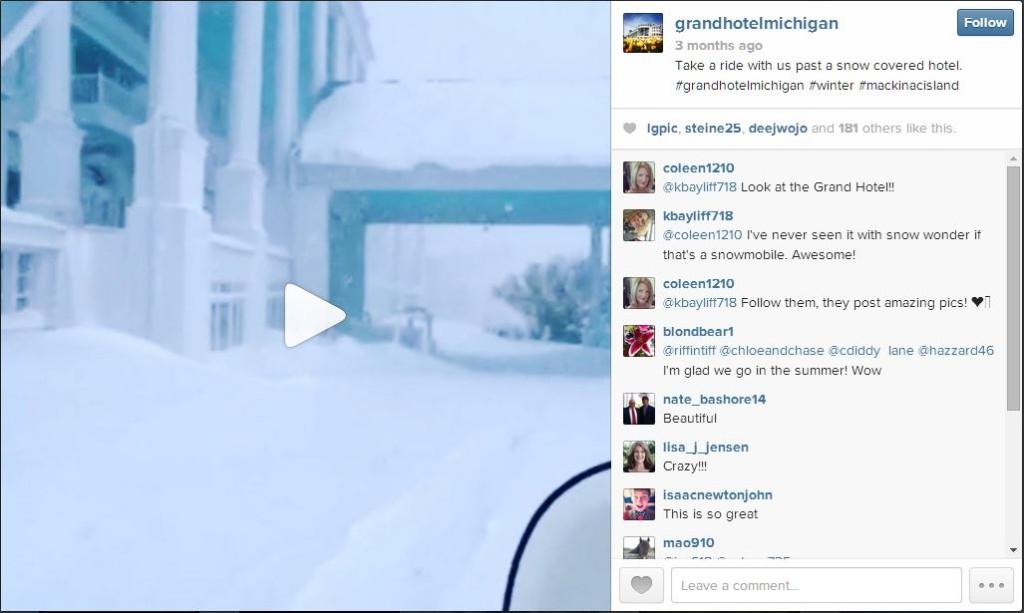 grand hotel michigan instagram video