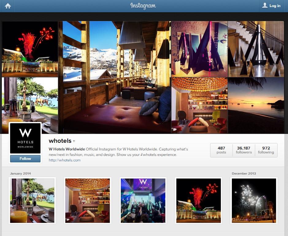 W Hotels Instagram: http://instagram.com/whotels