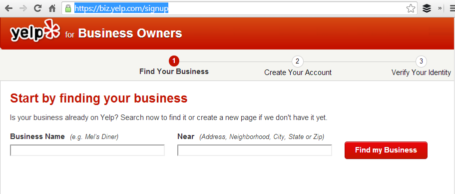 Yelp Business Listing