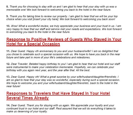 How to respond to reviews