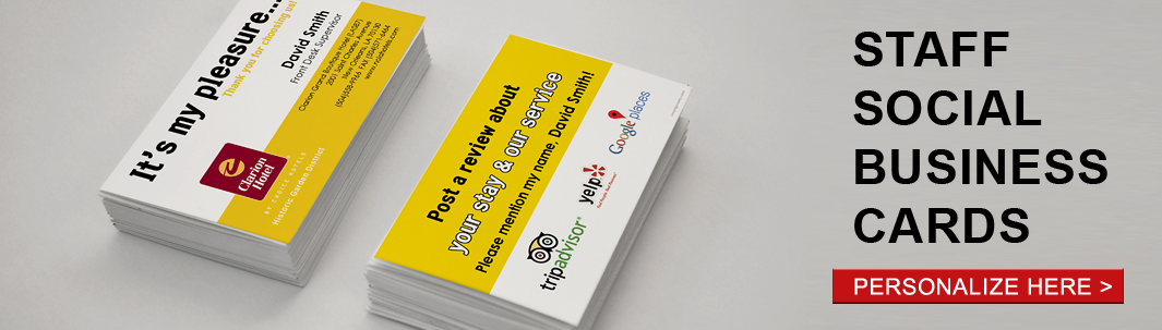 Staff Social Business Cards