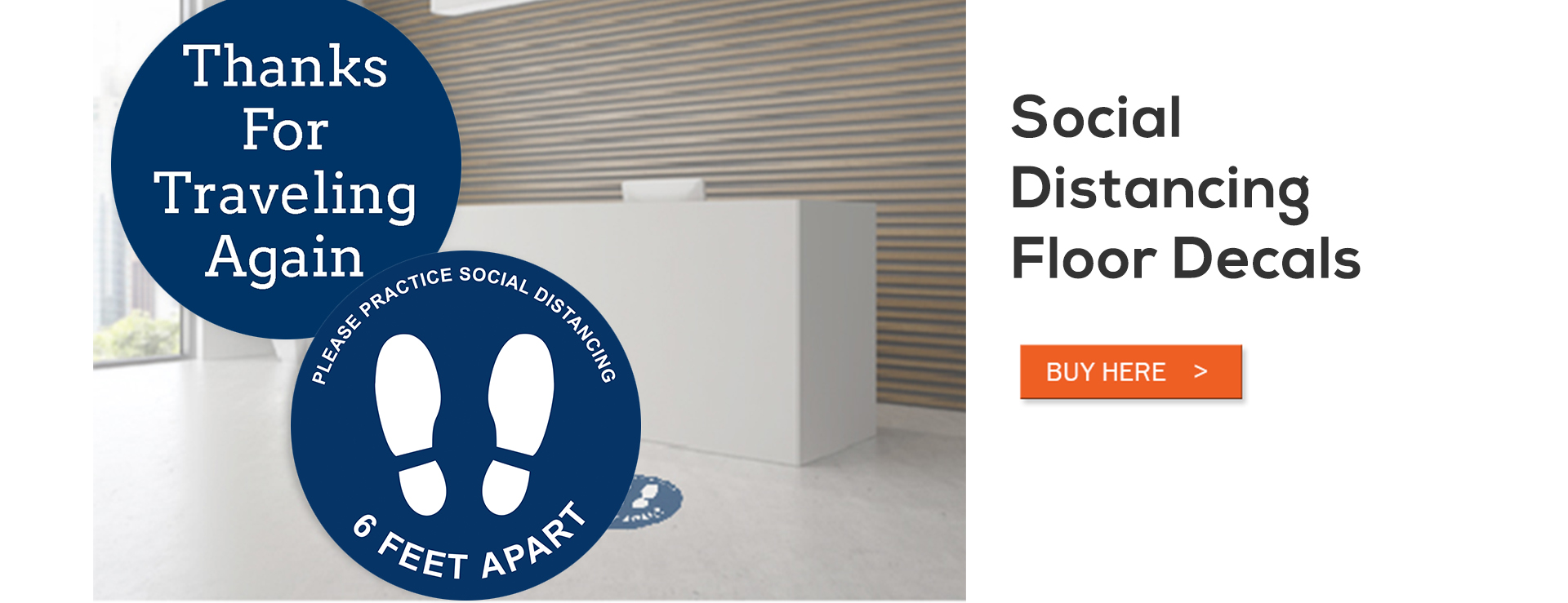 Social Distancing Floor Decals
