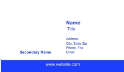 Staff Review Business Card - Blank