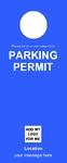 Parking Permit - Blue 2