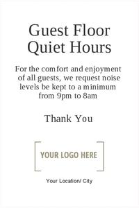 Guest Floor Quiet Hours 20