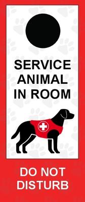Service Dog Door Hangers - Red