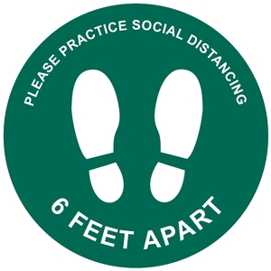 Please Practice Social Distancing Green