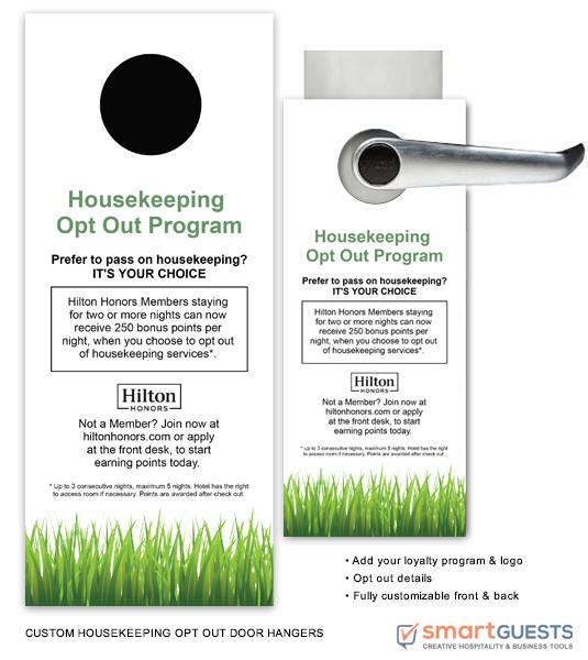 Housekeeping Opt Out Door Hangers