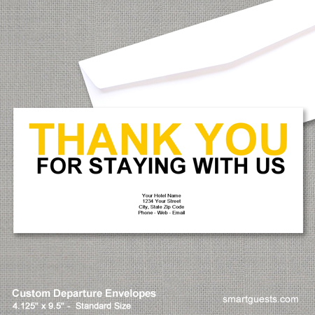 Custom Departure Envelopes