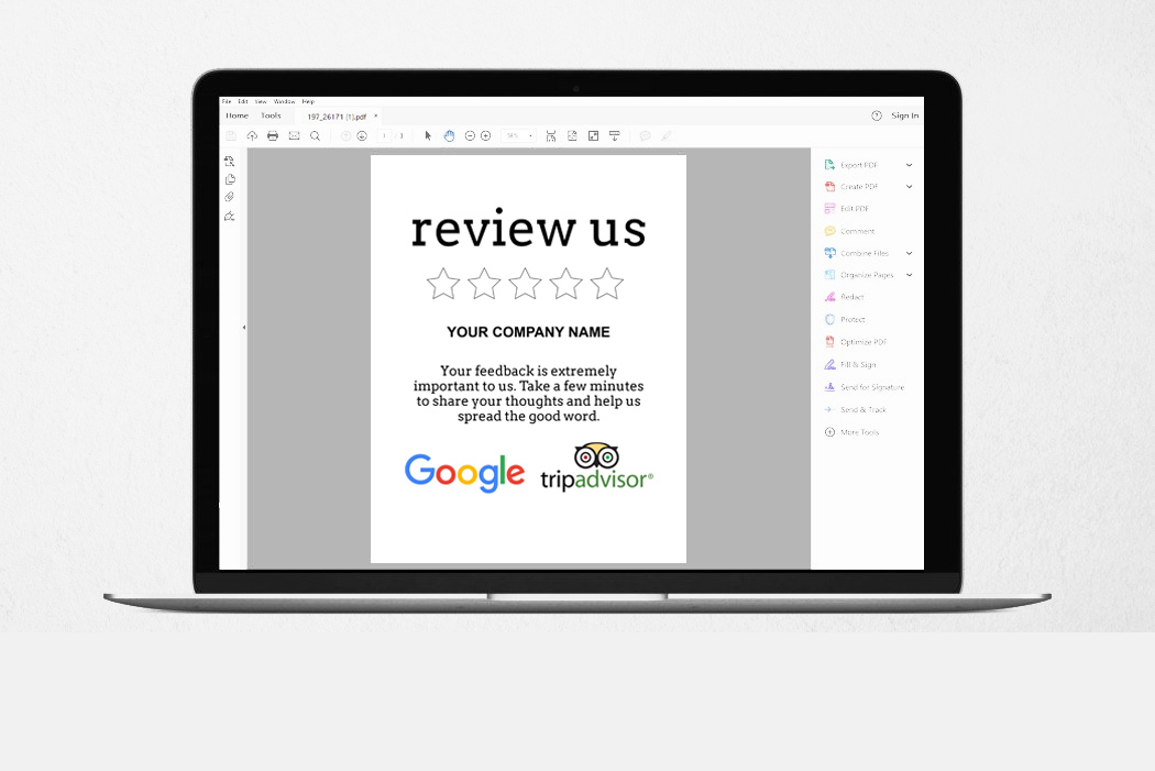 Review Request Sign Template - Printable Review Us