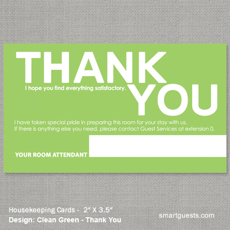Housekeeping Cards Business Cards Size