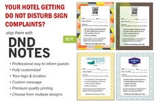 DND Notes to Stop Guest Complaints from Do Not Distrub Signs