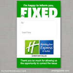 It's Fixed Maintenance Cards Holiday Inn Express
