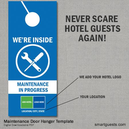 Maintenance Door Hanger Sign Never scare a guest again – Consulting Services Door Hanger Template