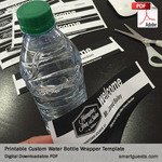 Printable Custom Water Bottle Wrapper Template