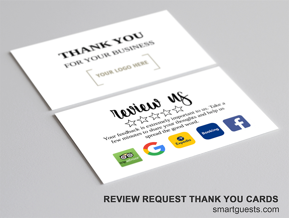 Review Request Thank You Business Cards