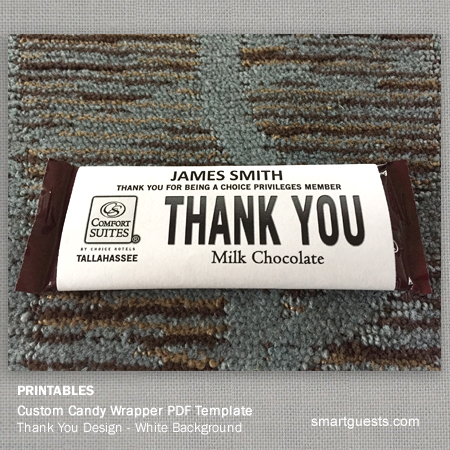 Printable Custom Candy Bar Wrapper Pdf Template Print At