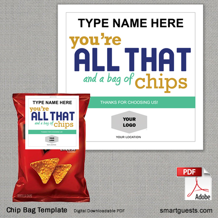 Chip Bag Template