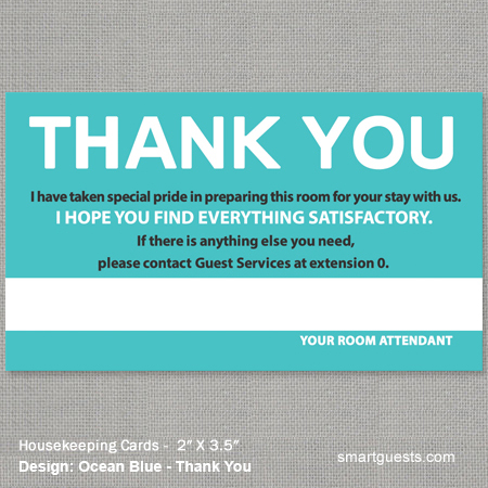 Housekeeping Cards