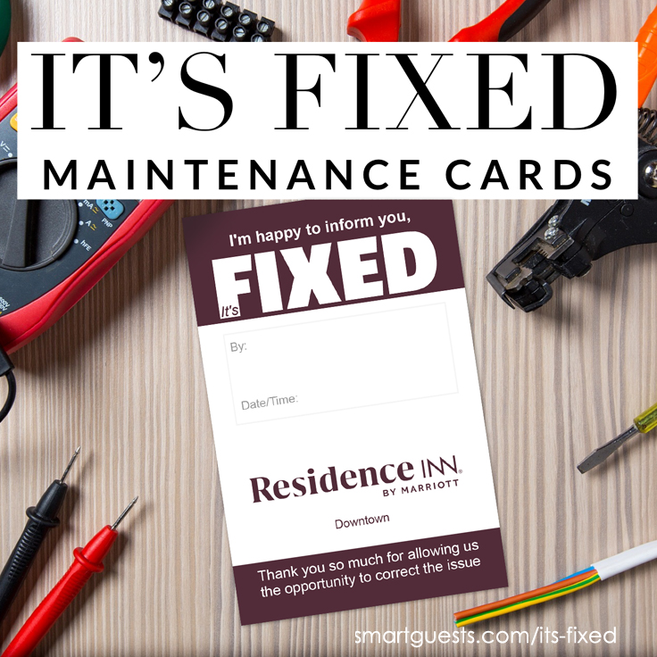 It's Fixed Hotel Maintenance Cards