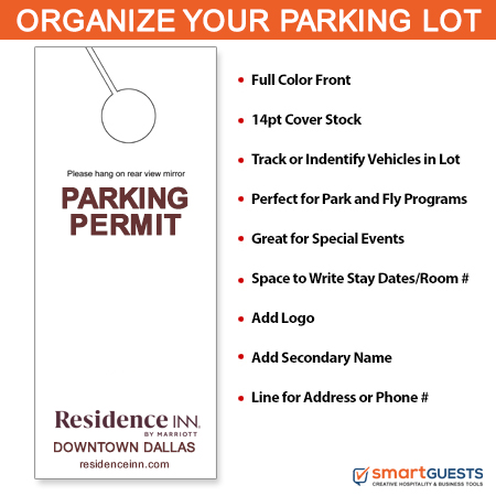 image regarding Printable Parking Pass identify Lodge Applications - Parking Enable Reflect Dangle Tags