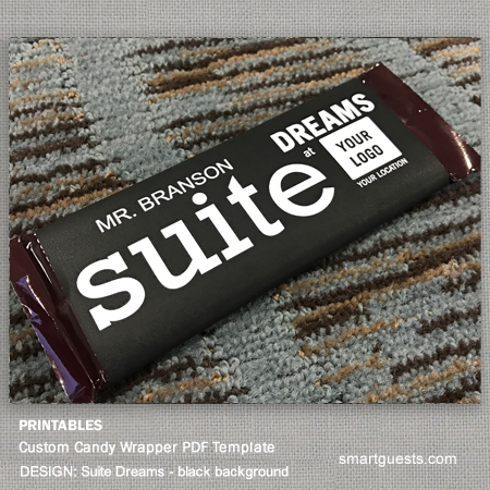 Suite Dreams Candy Wrapper Template