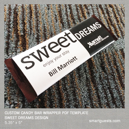 Printable Templates - Candy Bar Wrapper Template - Printable (PDF)