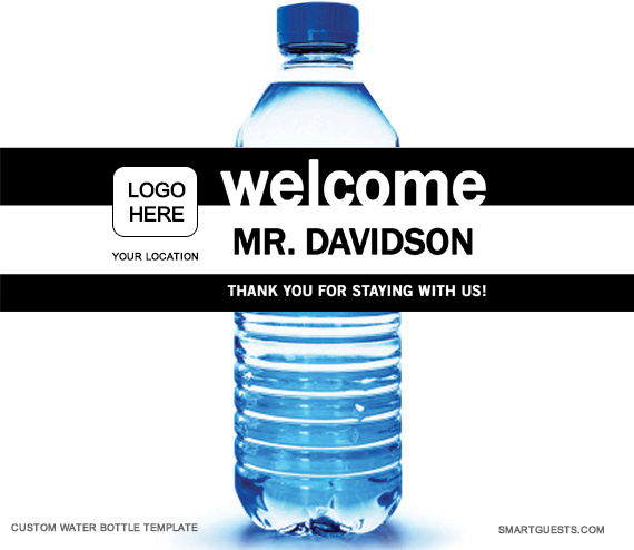 Printable Custom Water Bottle Wrapper Pdf Template  Print At Hotel