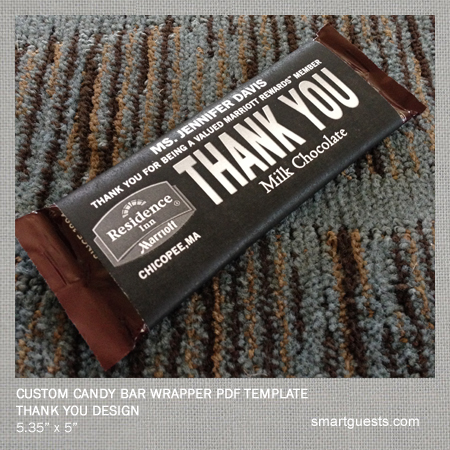 Printable custom candy bar wrapper pdf template print at for Custom candy wrappers templates